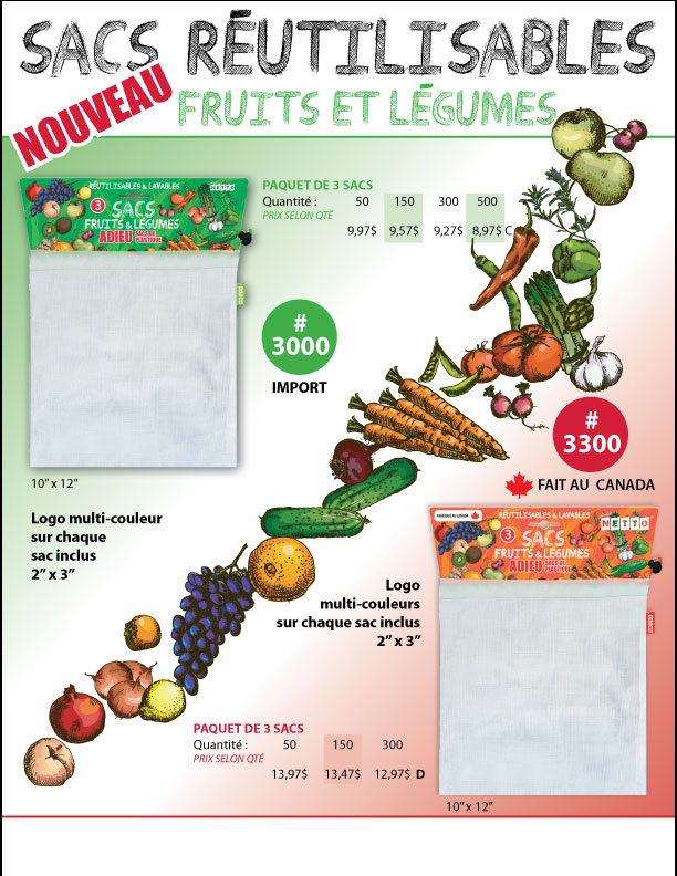 sac a fruits legumes